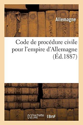 Code de procédure civile pour l'empire d'Allemagne par Ernest Désiré Glasson