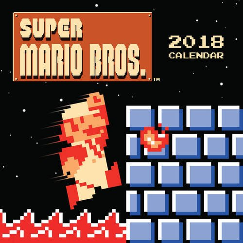 * NEW * Super Mario Bros. 2018 Wall Calendar with art from the Original 80s Game!