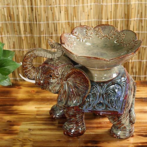 ZTMN Cuenco de Fruta de Addin, cerámica del hogar de los Elefantes...
