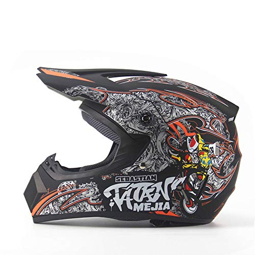 WHL Four Seasons Motorradhelm Off-Road-Helm für Herren und Damen, Mountainbike, Integralhelm, Downhill Chongshan, Kleiner Helm, abnehmbar XL D