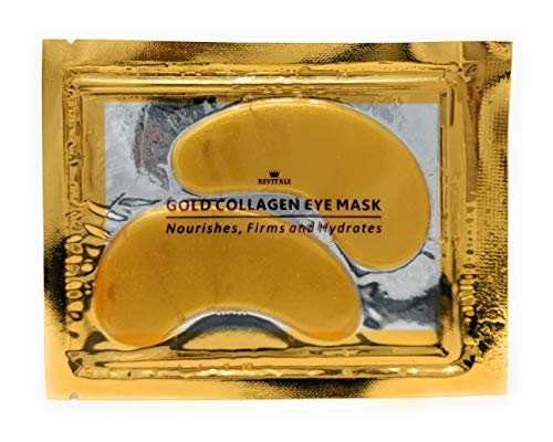 Revitale Masque Collagène Œil Doré, Patch Coussinet Soins de la Peau Anti-rides Hydratant, Acide Hyaluronique (Lot de 10)