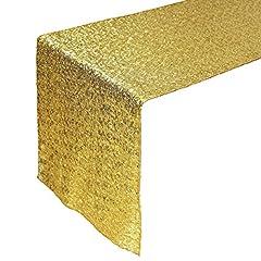 Idea Regalo - Tankerstreet 33x 274,3cm Beautiful Sparkle tessuto paillettes runner tovaglia per festa di nozze decorazioni–oro