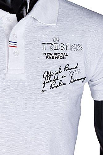 Trisens -  Polo  - Uomo Bianco