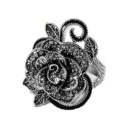 xiaoyamyi Damen Ring/Fingerring Retro-Stil Vintage Rose Persönlichkeit Punk-Stil Größe 7 8 9 für Geburtstag, Valentinstag, Jahrestag - Keine - 7 (9 Größe Vintage-ringe)