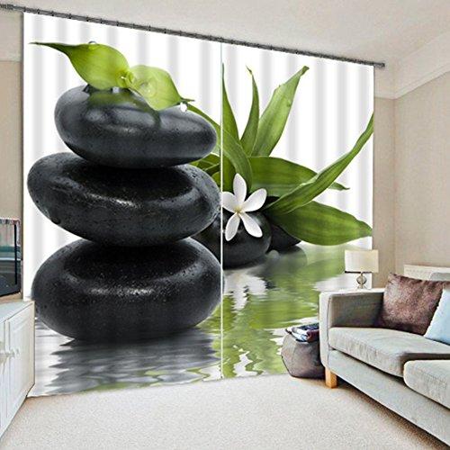 QiangDa 3D-Vorhang Dreidimensionaler Visueller Effekt Wärmeisolierung Fenster Vorhänge Verdunkelung Lärmminderung -Set Aus 2 Platten, 2 Stile Optional, Kundenspezifische Größe ( Farbe : 2# , größe : W 3.6m x H 2.7m ) (Mich Blockiert)