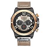 Haut Marque Chronographe Quartz montres Hommes 24 heures date hommes sport montre-bracelet en cuir