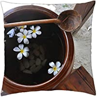 Beach Wash Bowl with Plumeria Flowers -