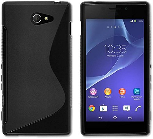 Sony Xperia M2, Back Cover , Premium Real Perfect Fit Hybrid S-Line Matte Finish Soft Silicon (Black) Back Cover Case for Sony Xperia M2  available at amazon for Rs.189