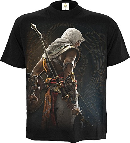 Assassins Creed Origins - Bayeka Unisex T-Shirt schwarz - Spielwaren - XL - Spiral (Assassins Creed Bogen)