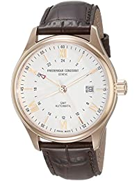 FREDERIQUE CONSTANT MEN'S 42MM BROWN CALFSKIN BAND AUTOMATIC WATCH FC-350V5B4
