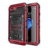 seacosmo Cover iPhone 7, [Waterproof] Custodia Impermeabile Corpo Completo con Protezione Incorporata dello Schermo per Apple iPhone 8, Rosso