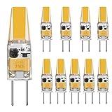 Minger G4 LED Ampoule 3W DC/AC 12V Equivalent 30W Ampoule à Halogène Blanc Chaud 3000K - 10 packs