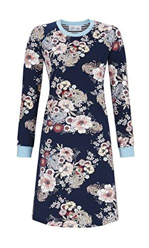 Ringella Bloomy Damen Nachthemd mit Blumenprint Dark Navy 46 8551001, Dark Navy, 46