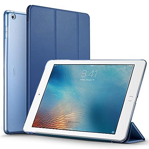 iPad 2017 iPad 9.7 Zoll Hülle, ESR® Yippee Bildserie Cover Auto aufwachen / Schlaf Funktion Smart Case Wickelfalz Ledertasche mit Lichtdurchlässig Rückseite Abdeckung Schutzhülle für iPad 9.7 2017 (Marineblau)