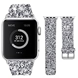 VIWIV Iwatch-Band Für Apple Watch1/2/3/4-Serie 42mm/44mm/40mm/38mm Zubehörband 2018 Flash-Bright-Armband,Silver,44mm