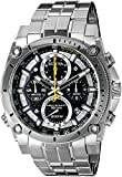 Precisionist Chronograph Men's UHF Watch with Black Dial and Silver Stainless Steel Bracelet