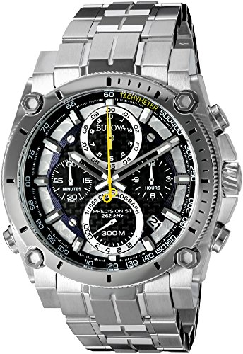 bulova-precisionist-chronograph-mens-uhf-watch-with-black-dial-analogue-display-and-silver-stainless