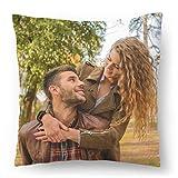 Coussin avec Photo personnalisé (45x45) Personnalisable avec la Photo ou Le Texte de Votre Choix oreillers hypoallergéniques Photo Fullprint [091]...