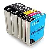 OfficeWorld Remplacer pour 940XL Cartouches d'encre Grande Capacité pour Officejet Pro 8000 8500 A909A 8500A A910A (2 Noir, 1 Cyan, 1 Magenta, 1 Jaune)