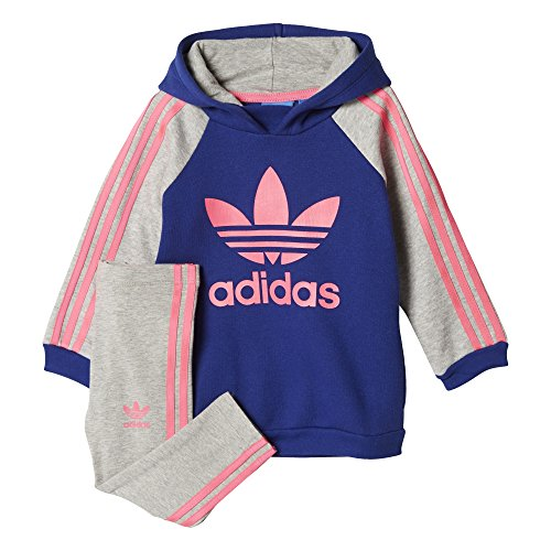 adidas OriginalsSET - Sweat à capuche - mystery ink/medium grey heather/solar pink