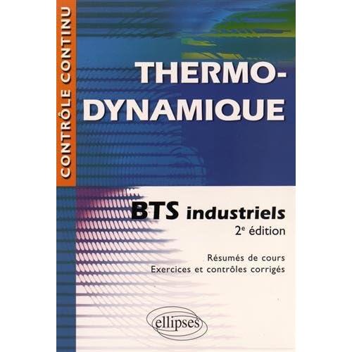 Thermodynamique BTS Industriels