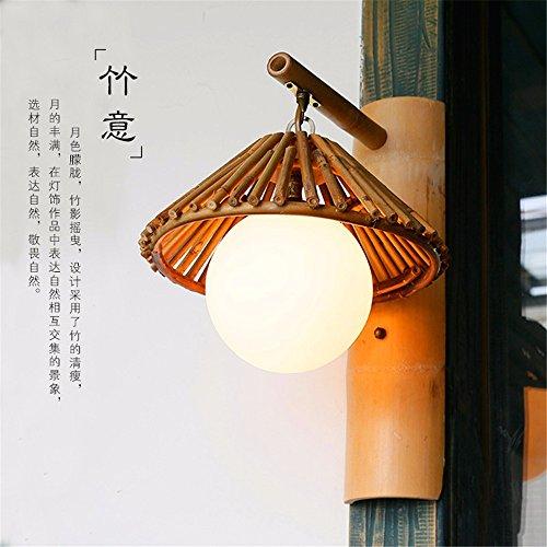 JJZHG Wandleuchte Wandlampe Wasserdicht Wandbeleuchtung Persönlichkeit Thema Restaurant Bambus Wandleuchte inn Bambus kreative Farm Tee Haus Bambus Lampe Wandleuchte beinhaltet: Wandlampe Doe Tee