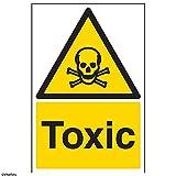 vsafety Schilder 6a015au-s Giftig Achtung Substanz und chemischen Schild, selbstklebend, Portrait, 200mm x 300mm, schwarz/gelb