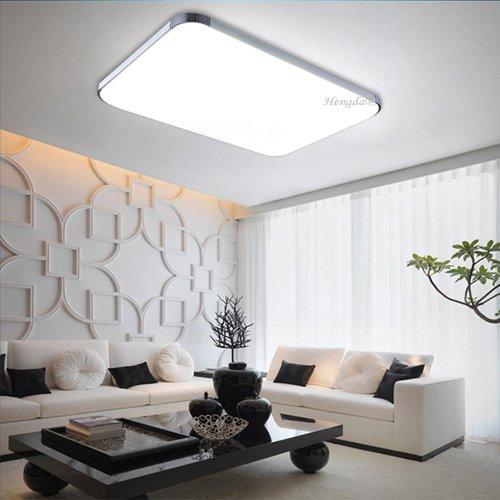 Hengda® 48W LED Kaltweiß Deckenbeleuchtung 6000K-6500K Lamp Wohnzimmer Deckenlampe Energiespar Wand-Deckenleuchte 4320LM