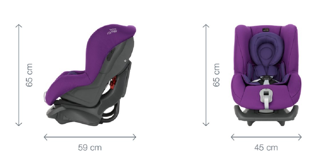 Britax Römer FIRST CLASS PLUS Group 0+/1 (Birth-18kg) Car Seat - Storm Grey  Extended recline position when rearward facing - the safest way to travel Reassurance built-in - Click and safe harness tensioning confirmation High quality protection - side impact protection Plus performance chest pads and pitch control system 7