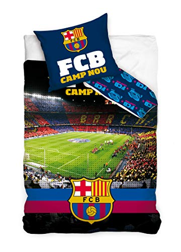 FCB FC Barcelona Camp NOU - Juego Funda nórdica Funda