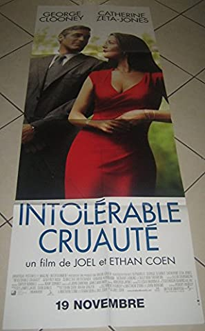 Intolerable Cruauté George Clooney - 60X120Cm Affiche Cinema Originale