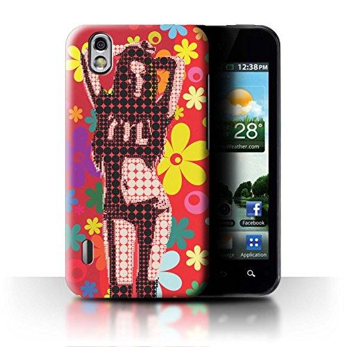 Stuff4® Hülle/Case für LG Optimus Black P970 / Blumenmädchen Tanz Muster/Hippie Hipster Kunst Kollektion (Black Lg P970 Optimus)