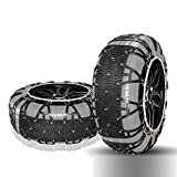 Cadena de Nieve - Neumáticos de la Cadena de Nieve del automóvil Cadena de Nieve Automóvil Todoterreno Vehículo Todoterreno Cadenas para Nieve Fácil de Instalar (Tamaño : 22575R16)