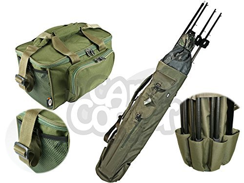 Carp-Coarse-Fishing-Luggage-Set-Quiver-Rod-holdall-Deluxe-Padded-Carryall-Made-By-NGT