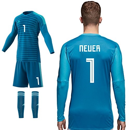 adidas Torwart Set Home Blau 2018 2019 Kinder Neuer 1 Gr 152
