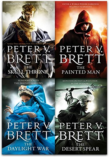 The Demon Cycle Series Peter V. Brett Collection 4 Books Set (The Painted Man, The Desert Spear, The Daylight War, The Skull Throne)