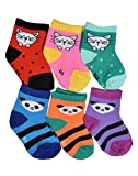 #10: Crux&hunter 6 pair cotton assorted socks of baby boy's and girl's (Age group 0-9 months)