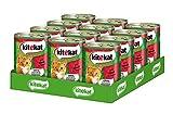 Kitekat Katzenfutter Nassfutter Adult für erwachsene Katzen mit Rind in