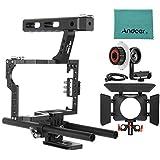 Viltrox VX-11 Film caméra vidéo Cage en Alliage d'aluminium système w / 15mm Rail tige + Follow Focus FF + boîte mat + Top Handle pour Panasonic GH4 pour Sony A7S/A7/A7R/A7RII/A7SII ILDC