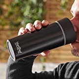 VonShef Vacuum Travel Mug Flask Cup - Coffee To Go Double Walled Stainless Steel - Leak Proof Seal - For Hot Or Cold Drinks Up To 7 Hours – Matte Black