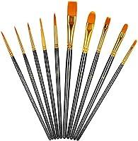 10PCS Paint Brushes Set Nylon Hair Brush for Acrylic Painting Oil Painting Watercolor Painting Gouache Painting Face...