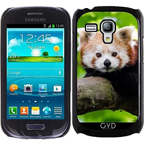 Coque pour Samsung Galaxy S3 Mini (GT-I8190) - Panda Rouge Ours Animaux by WonderfulDreamPicture