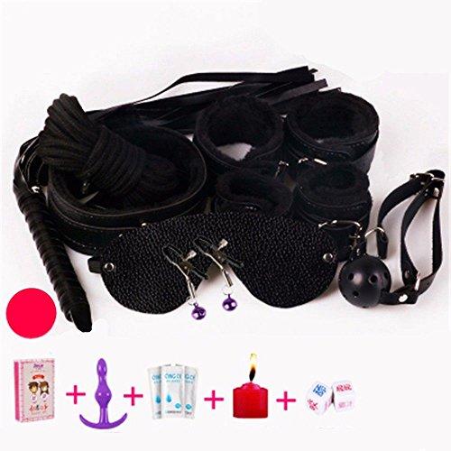 tüm Männer Frauen Party Love Cosplay Spielzeug Paare lustig Adult Bundle Alternative Spielzeug Leder Set F ()