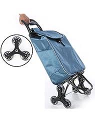 MEYLEE Chariot de transport léger, Hard Wearing & Foldaway pour un rangement facile , blue