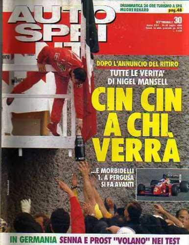 Autosprint Auto Sprint 30 Luglio 1990 Nigel Mansell, Senna, Prost, Biasion