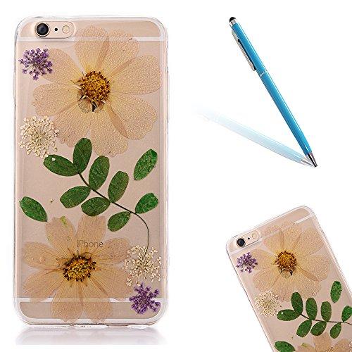"""iPhone 6sPlus Schutzhülle, iPhone 6Plus Soft TPU Handytasche, CLTPY Modisch Durchsichtige Rückschale im Getrocknete Blumenart, [Stoßdämpfung] & [Kratzfeste] Full Body Case für 5.5"""" Apple iPhone 6Plus/ Floral 17"""