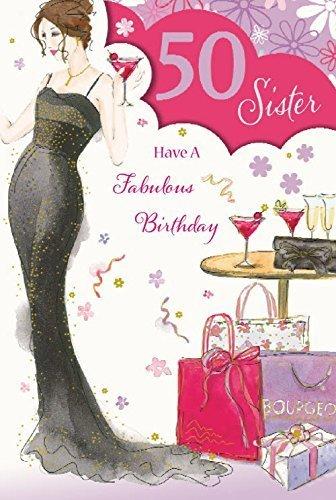 50th Birthday Sister Carte Pour Anniversaire EAN 5050321021654