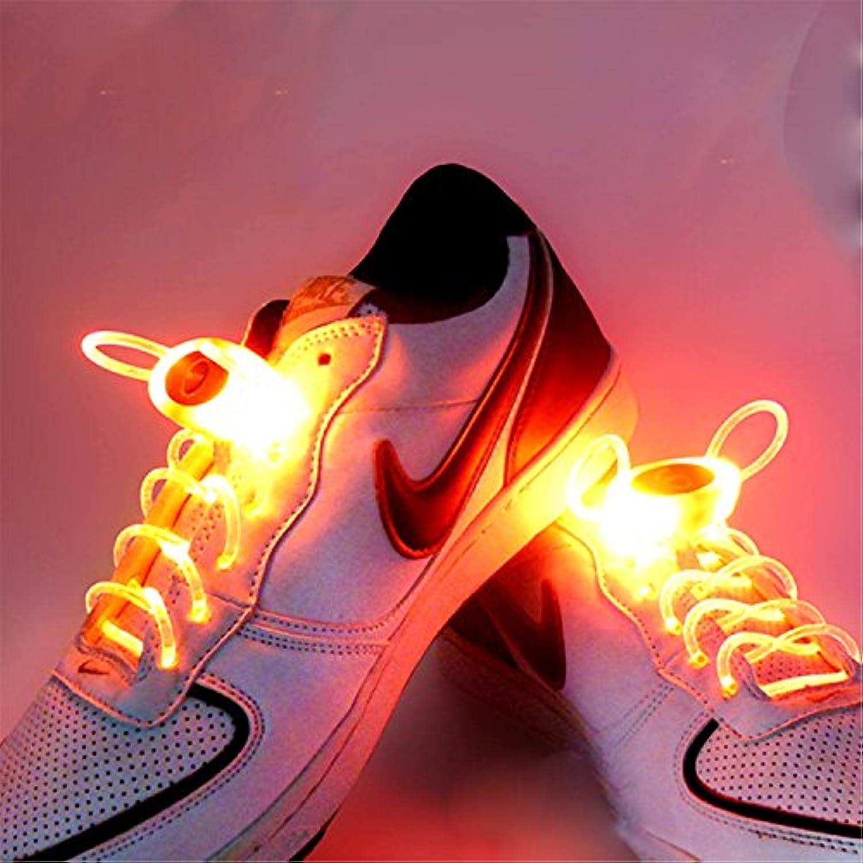 SKKMALL RGB 1 par 80cm cordones resplandor LED zapatillas deportivas resplandor luminoso neón luminoso cordones  -