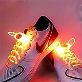 JIALUN- LED Warmes Weiß RGB 1 Paar 80 cm Glow Schnürsenkel LED Sport Schnürsenkel Glow Stick Blinkt Neon Leuchtend Schnürsenkel ( Color : Orange )