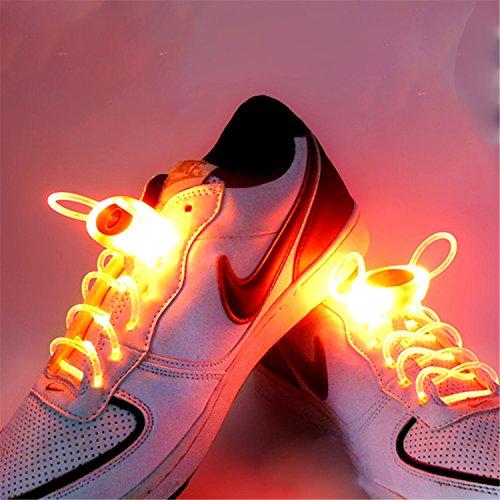 eiß RGB 1 Paar 80 cm Glow Schnürsenkel LED Sport Schnürsenkel Glow Stick Blinkt Neon Leuchtend Schnürsenkel ( Color : Orange ) ()